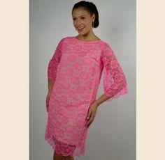 Hot Pink Lace Mini Dress - $62.00