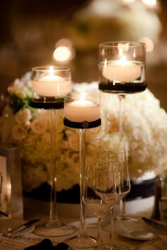 Candles and White Flowers - elegant