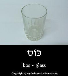 Glass in Hebrew