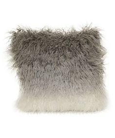 Gray Ombré Faux Fur Throw Pillow #zulily #zulilyfinds