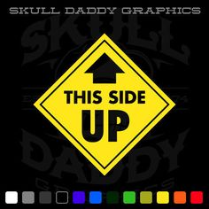 THIS SIDE UP 1  Jeep Wrangler Cherokee Blazer K5 Offroad 4x4 Sticker Decal