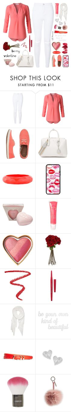 """""""Be My Valentine"""" by forever-fleek ❤ liked on Polyvore featuring New Look, LE3NO, Reef, MCM, Kenneth Jay Lane, Lancôme, Sia, NARS Cosmetics, Smashbox and Calvin Klein"""