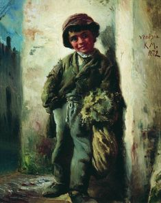 Girl with Hat - Konstantin Makovsky - WikiArt.org