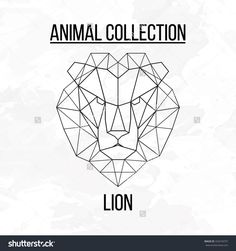 Abstract geometric silhouette lion - Pesquisa Google