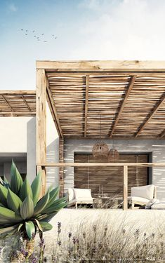 Design Patio, Exterior Design, House Design, Outdoor Spaces, Outdoor Living, Outdoor Decor, Greek House, Desert Homes, Mediterranean Homes