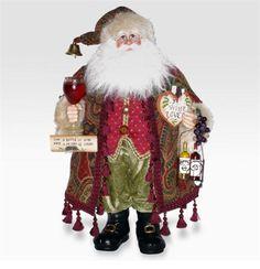 Karen Didion wine santas Cork Christmas Trees, Old World Christmas Ornaments, Christmas Deco, Vintage Christmas, Christmas Crafts, Father Christmas, Little Christmas, White Christmas, Santa Doll