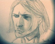 Depressing rainy weather was a true inspiration.. #kurtcobain #drawing