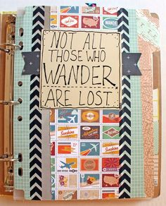 Travel Journal Scrapbook Page