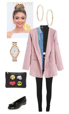 """""""Yugyeom Airport; Pink Jacket"""" by k-lookbooks ❤ liked on Polyvore featuring WearAll, Cheap Monday, Chicnova Fashion, River Island, Rebecca Minkoff, Kate Spade and Topshop"""