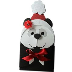 Listing is for one kids easter gift card holder funny easter panda bear hug gift card holder negle Images