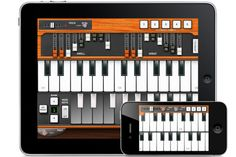 Hammond Organ for iOS, Pocket Organ C3B3.....VERY fun app, and it does sound good through a PA system. I've used it in a pinch in concert. IT WORKED!!!... REALLY....