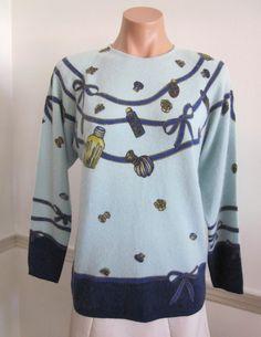 Vintage Blumarine Folies trompe l'oeil sweater at OgoVintage etsy shop