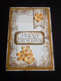 Cartolina d'auguri floreale neutro felice di VickieLouDesigns
