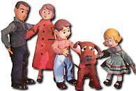 Davey and Goliath was a stop-motion animation children's show, produced by the Lutheran Church in the 1950s and 1960s. I have dim memories of this being on TV very early in the morning when I was little. I liked the dog.