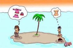 Humor grafico adultos fotos: En que piensan los hombres y las mujeres