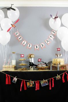 How To Train Your Dragon Party Table Decoratios