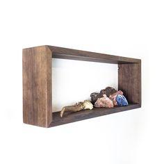 Rectangle Hardwood Floating Shelve - Tropical Black Walnut wood