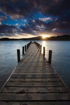 dock and sky, sun