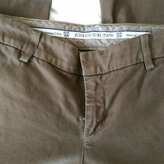 Juicy Couture pants Really soft trouser type pants, perfect for the office! Kind of an olive greeny-brown color. Juicy Couture Pants