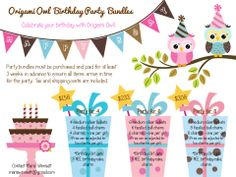 Make her birthday party extra special with Origami Owl Party Bundles!  mariewimsett@gmail.com