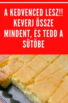nagyon finom! #sütemény#recept Sweet Desserts, Sweet Recipes, Cake Recipes, Dessert Recipes, Frappuccino, Cooking Gadgets, Cooking Recipes, Hungarian Desserts, Sweets Cake