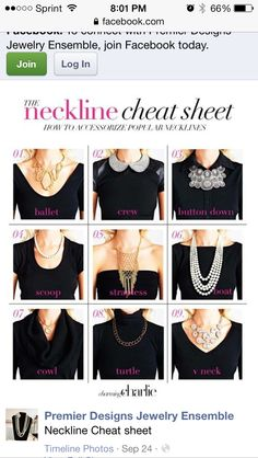 Necklace types/shirt types