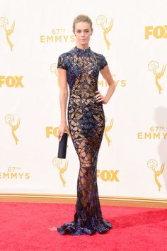 Christine Marzano in Pedro Garcia shoes at the 2015 Emmys. See what all the stars wore to the ceremony.
