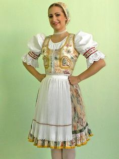 Typical folk costume from Zemplin region and village of Zamutovo, Eastern Slovakia Ethnic Outfits, Ethnic Clothes, Prom Dresses, Summer Dresses, Folk Costume, People Of The World, Autumn Wedding, Historical Clothing, Beautiful Patterns