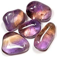 AMETRINE: Ametrine is a natural combination of amethyst and citrine. Ametrine energies are said to stimulate the intellect and rid the aura of negative energy. It is also said to be helpful for releasing negative emotional programming.  Ametrine is used mystically to aid in meditation, boost psychic abilities, relieve tension, disperse negativity and help to eliminate prejudice. It is related primarily to the Crown and Root Chakras.