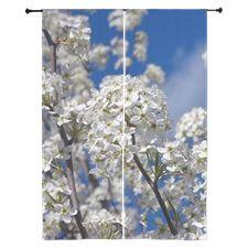 Bradford Pear Blooms Curtains