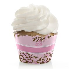 Baby Cherry Blossom - Baby Shower Cupcake Wrappers $0.79