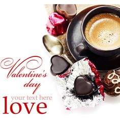 chocolate and coffee for Valentine's Day ❤ liked on Polyvore featuring articles, backgrounds, quotes, magazine, phrase, saying and text