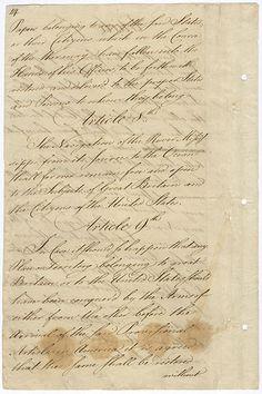 Treaty of Paris (page 14) vintage script
