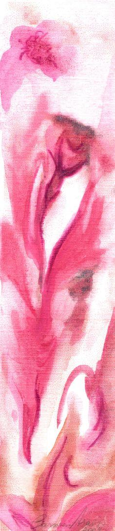 """""""Vênus 2"""" - Aquarela. Projeto """"Delta Z"""". Setembro 2004. Arte Erótica."""