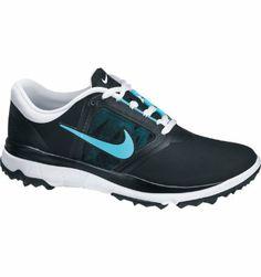 the latest cc56c ad7a1 Nike Women s FI Impact Spikeless Golf Shoe - Black Polarized Blue at Golf  Galaxy Spikeless