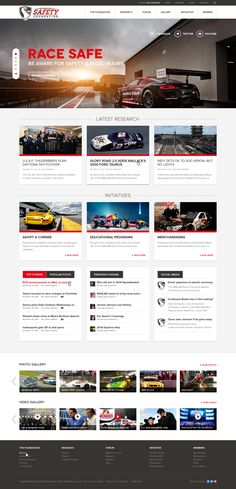 Design a cutting edge Motorsport Foundation website that will win awards! Website design #47 by Kyousuke