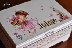 Discover thousands of images about This wooden box can be a perfect gift for various occasions! Decoupage Tutorial, Decoupage Box, Decoupage Vintage, Baby Box, Jewellery Boxes, Tissue Boxes, Box Frames, Craft Items, Country Decor