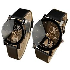 2017  Lovers' Fashion Quartz Watch Women Men Couple Wristwatch Casual Forever Love Watch