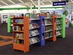 Tricolore Library Shelving