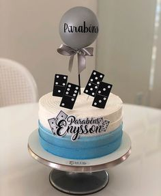 Beautiful Birthday Cakes, Blue Cakes, Cakes For Men, Drip Cakes, Buttercream Cake, Birthday Decorations, Fondant, Cake Decorating, Desserts