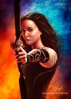 Catching Fire. Katniss Everdeen by strannaya-anna.deviantart.com on @deviantART