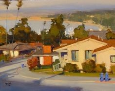 Evening Light Above the Bay by Brian Blood Oil ~ 11 x 14