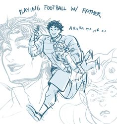 """kakyoyoin: """" every night at ten pm exactly i lose whatever dignity i have left and draw jonathan and giorno having quality father son time """""""