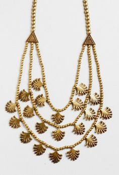 Esparto Gold Palm Frond Bib Necklace by A Peace Treaty at Gilt Strand Necklace, Gold Necklace, Palm Fronds, Girls Best Friend, Jewelry Trends, Statement Jewelry, Artisan, Peace, Jewels