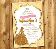 Beauty and the Beast Invitation Beauty and the Beast