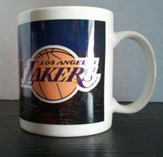LOS ANGELES LAKERS Over Looking Downtown LA Coffee Mug 11 oz. #Unbranded #LosAngelesLakers