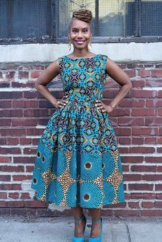 Remix Michelle O. Dress made from African Dutch Wax - The M A J I Collection