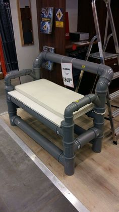 Industrial Furniture Ideas For Someone Looking To Improve Their Home For some people, interior design is something that comes quite naturally. Pvc Pipe Furniture, Garage Furniture, Funky Furniture, Industrial Furniture, Furniture Design, Pvc Pipe Projects, Diy Casa, Creation Deco, Diy Room Decor