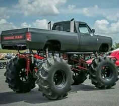 Dodge Ram mud truck