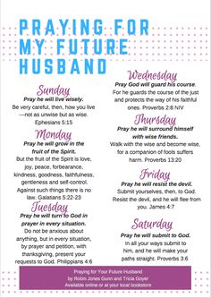 I prayed for my future husband